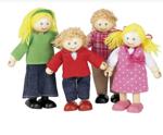 Afbeeldingen van Poppenhuispoppetjes Westerse familie 4 stuks Tidlo