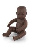 Afbeeldingen van Badpop - Babypop Afro jongen 40cm waterdicht