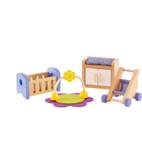Afbeeldingen van Poppenhuismeubels Babykamer Hape