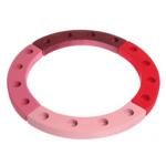 Afbeeldingen van Houten verjaardagsring 16 gaten roze rood