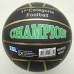 Afbeeldingen van Voetbal rubber Champion Zwart 380 gram