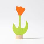 Bild von Verjaardagsring decoratie steker Tulp oranje Grimm's