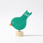 Afbeeldingen van Decoratie steker jaarring vogel Grimm's