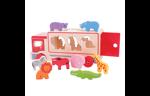 Afbeeldingen van Houten vormenauto Safari-sorteerwagen Bigjigs