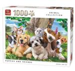 Afbeeldingen van Legpuzzel 1000 stukjes Dierencollectie Honden KING