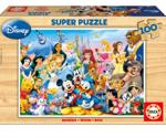 Bild von Houten puzzel Disneyfiguren 100 st