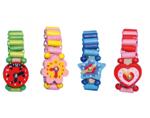Afbeeldingen van Houten horloge vrolijke kleurtjes