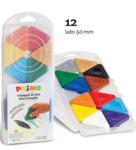 Bild von Driehoek waskrijt 12 kleuren Primo