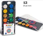 Afbeeldingen van Aquarelverf 12 kleuren met penseel Primo