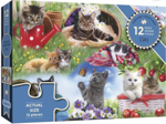 Afbeeldingen van Puzzel 50+ Katten - 12 stukjes