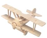 Bild von 3d puzzel dubbeldekker vliegtuig