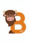Afbeeldingen van Sevi dierenletter nieuw (B) bizon