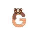 Afbeeldingen van Sevi dierenletter nieuw (G) grizzlybear