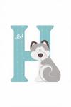 Afbeeldingen van Sevi dierenletter nieuw (H) huskey