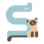 Afbeeldingen van Sevi dierenletter nieuw (S) siamese kat