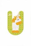 Afbeeldingen van Sevi dierenletter nieuw (U) eenhoorn unicorn