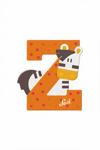 Afbeeldingen van Sevi dierenletter nieuw (Z) zebra