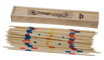 Bild von Mikado in houten kistje met schuifdeksel