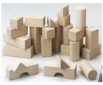 Afbeeldingen van Startset bouwblokken blank 1+ HABA