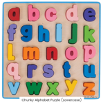 Afbeeldingen van Puzzel grote stukken Alfabet, kleine letters Bigjigs