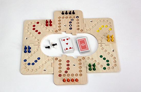 Bild von Keez bordspel  2, 4 en 6 pers.Hout puzzelbord in kist