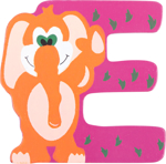 Picture of Houten dieren letter E