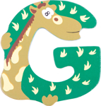 Bild von Houten dieren letter G