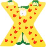 Picture of Houten dieren letter X