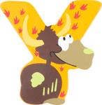 Bild von Houten dieren letter Y