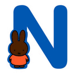 Image de Letter N Nijntje 8 cm
