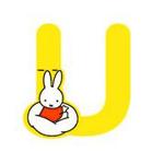 Bild von Nijntje alfabet letter U - 8cm