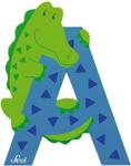 Afbeeldingen van Sevi dierenletter (A) Alligator