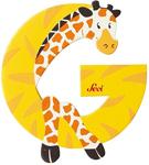 Afbeeldingen van Sevi dierenletter (G) Giraffe