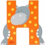 Afbeeldingen van Sevi dierenletter (H) Nijlpaard