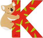 Afbeeldingen van Sevi dierenletter (K ) Koala