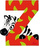 Afbeeldingen van Sevi dierenletter (Z) Zebra
