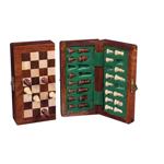Afbeeldingen van Schaakspel complete set, magnetisch, opklapbaar. Acacia hout. Hoogte koning 58 mm