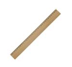 Image de Houten liniaal 30 cm met versteviging