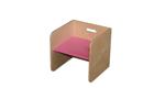 Afbeeldingen van Roze kubusstoel-kinderstoel met gekleurde zitting  thuisgebruik 1-8 jaar  Van Dijk Toys