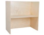 Afbeeldingen van Peuter Kubustafel-Kindertafel hout blank groepsgebruik 1-6 jaar 64x64x35 cm Van Dijk Toys
