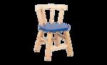 Image de Kinderstoel, blauw zitvlak, gebogen leuning, beukenhout Van Dijk Toys