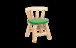 Afbeeldingen van Kinderstoel,  groen zitvlak, gebogen leuning, beukenhout Van Dijk Toys