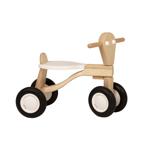 Afbeeldingen van Loopfiets berken hout wit Van Dijk Toys vierwieler kinderfiets