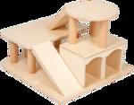 Afbeeldingen van Houten speelgoed auto garage met helikopterdek blank Van Dijk Toys  Vanaf 2 jaar