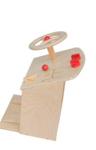 Afbeeldingen van Stuurkolom  hout met sleutel en pedalen Autotje spelen  Van Dijk Toys