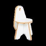 Afbeeldingen van Peuter stoel Apollo wit-hout Van Dijk Toys