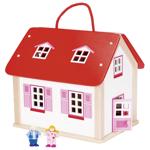 Afbeeldingen van Draagbaar poppenhuis incl accessoires 24 delig Goki