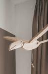 Afbeeldingen van Vliegfiguur Toekan Blank hout kinderkamer Van Dijk Toys