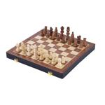 Afbeeldingen van Houten schaakspel opklapbaar essenhout 38,5x38,5cm