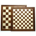 Afbeeldingen van Schaak-dambord ingelegd mahoniehout 445/35 cm 44x 44 cm